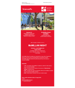 Invitation McMillan Night