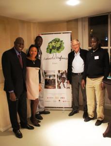 Les 10 ans de Racines d'Enfance au Grand Palais - Ibrahima Khouma, Lassana Keita, Assan Faye, Patricia Mowbray et Marc Perpitch